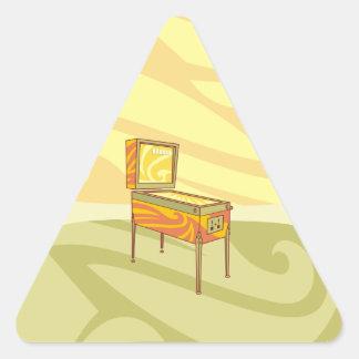 Pinball machine triangle sticker
