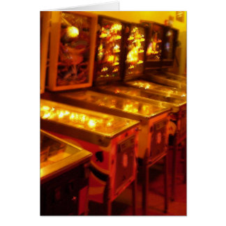Pinball Machines Greeting Card