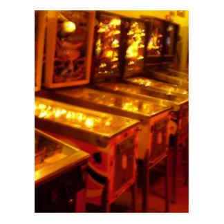 Pinball Machines Postcard