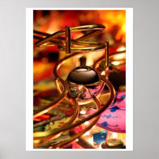 Pinball mágico de la rampa póster