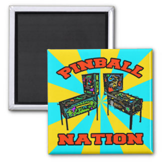 Pinball Nation 2 Inch Square Magnet