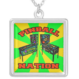 Pinball Nation Silver Plated Necklace