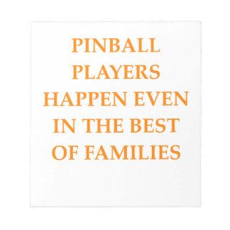 PINBALL NOTEPAD
