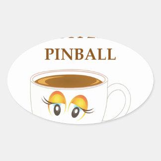 PINBALL OVAL STICKER