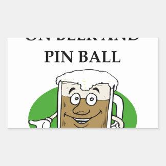 PINBALL RECTANGULAR STICKER