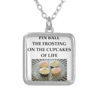 PINBALL SILVER PLATED NECKLACE