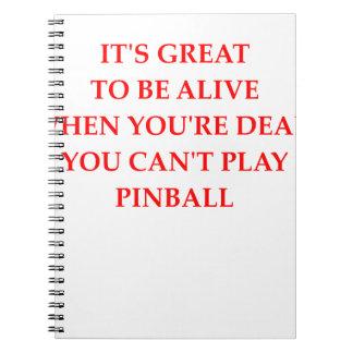 PINBALL SPIRAL NOTEBOOK