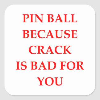 PINBALL SQUARE STICKER