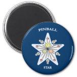 Pinball Star 2 Inch Round Magnet