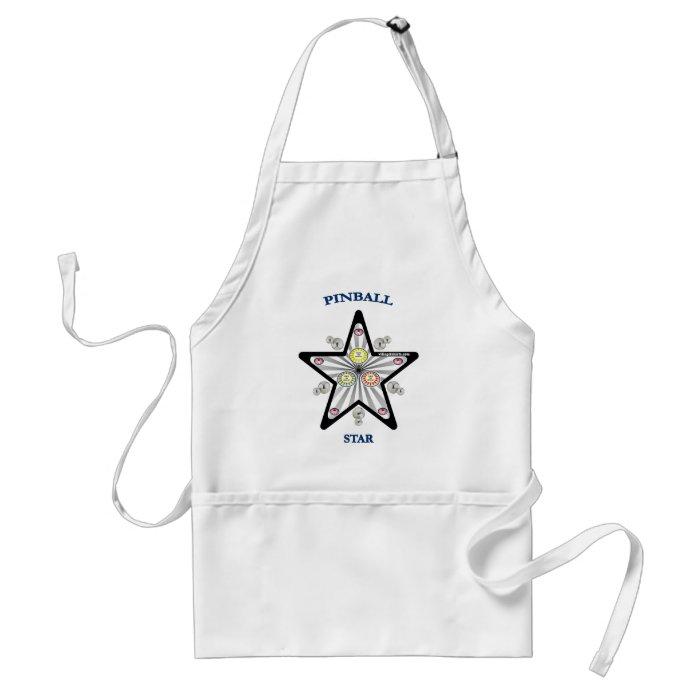 Pinball Star Adult Apron
