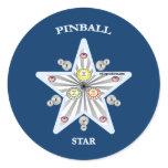 Pinball Star Classic Round Sticker