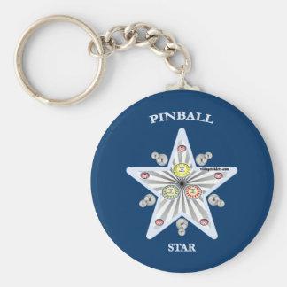 Pinball Star Key Chain