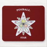 Pinball Star Mouse Pads