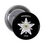 Pinball Star Pinback Button