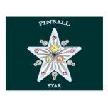 Pinball Star Postcard