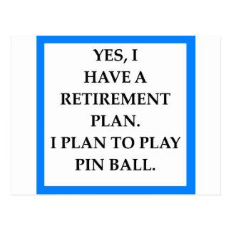 pinball tarjetas postales