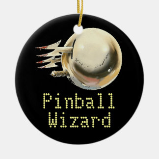 Pinball Wizard Ceramic Ornament