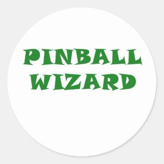 Pinball Wizard Classic Round Sticker