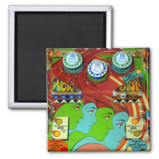 Pinball Wizard II 2 Inch Square Magnet