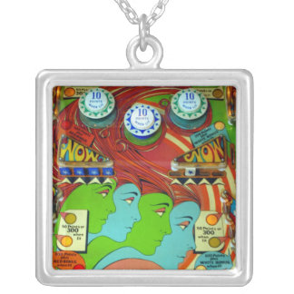Pinball Wizard II Silver Plated Necklace