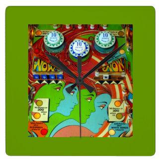 Pinball Wizard II Square Wall Clock