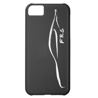 Pincelada blanca de FR-S en falsa fibra de carbono Funda Para iPhone 5C