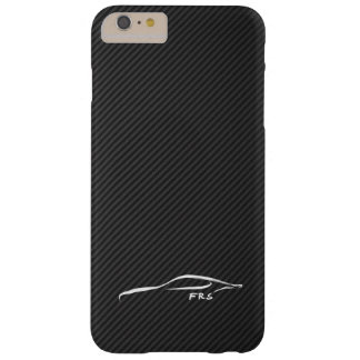 Pincelada blanca del Scion FR-S en falsa fibra de Funda De iPhone 6 Slim