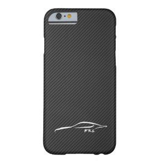 Pincelada blanca del Scion FR-S en falsa fibra de Funda Para iPhone 6 Barely There