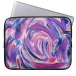 Pinceladas multicoloras - arte abstracto funda ordendadores
