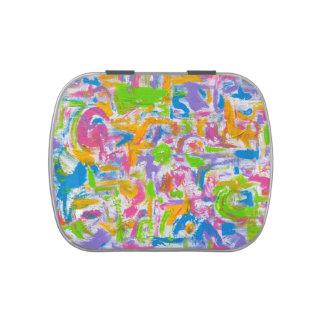 Pinceladas Pintada-Abstractas de neón del arte Frascos De Caramelos