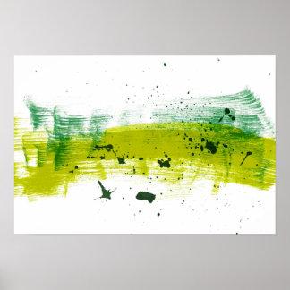 Pinceladas sucias verdes impresiones