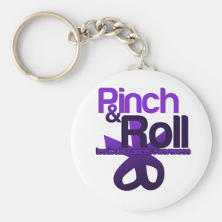 Pinch and Roll for Testicular Cancer Awareness Basic Round Button Keychain