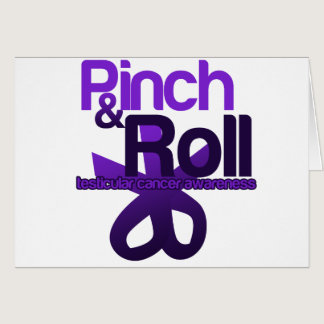 Pinch and Roll for Testicular Cancer Awareness Card