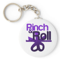 Pinch and Roll for Testicular Cancer Awareness Keychain