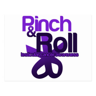 Pinch and Roll for Testicular Cancer Awareness Postcard
