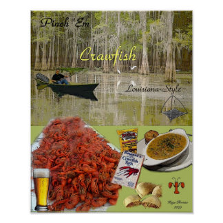 Pinch Em Crawfish Poster