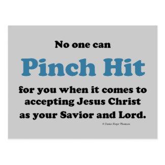 pinch hit postcard