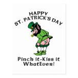 Pinch It Happy St Patrick's Day Postcard