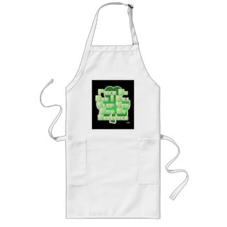 Pinch Me And I Will Slap You With My Shamrock Long Apron