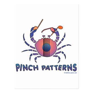 Pinch Patterns Postcard