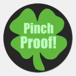 Pinch Proof! Round Stickers