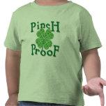 PINCH PROOF with Shamrocks Irish T-shirt