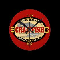 Pinch Tails Crawfish Clock wall clocks