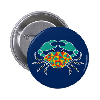 Pinching Crabs Pin on Button