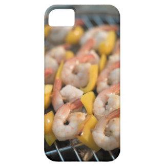 Pincho con los camarones y la pimienta asados a la iPhone 5 cárcasas