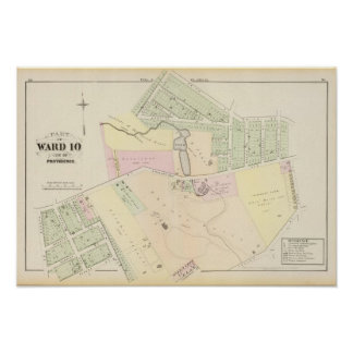 Pinckney Farm Oakland Plat Atlas Map Poster