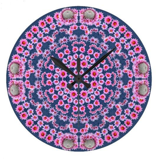 Pincushion Cactus Mandala Array Clock