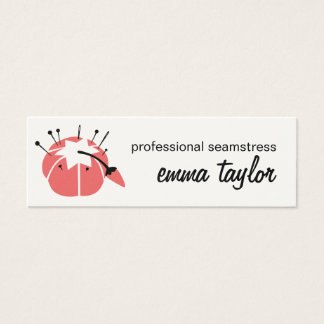 Pincushion Seamstress Alterations Business Card