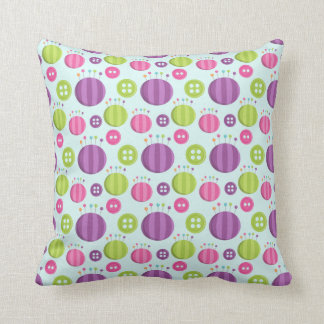 Pincushions and Buttons Sewing Seamstress Design Throw Pillows