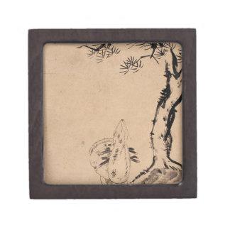 Pine and Deer by Bada Shanren Jewelry Box